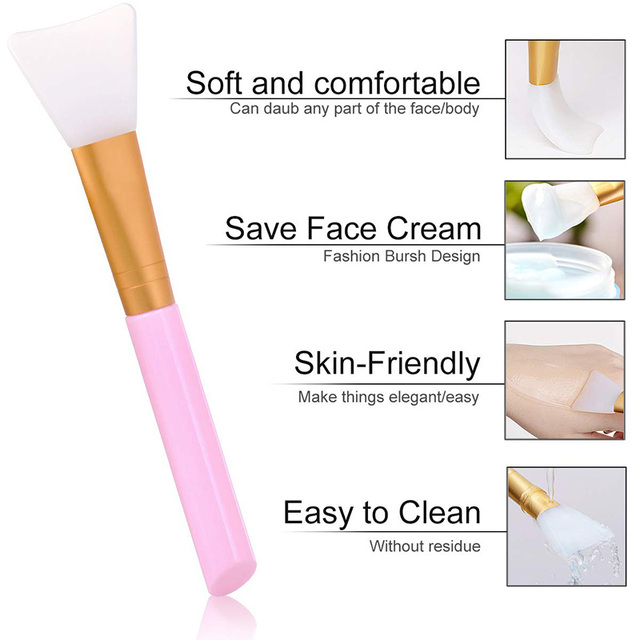1Pcs Professional Makeup Brushes Face Mask Brush Silicone Gel DIY Cosmetic Beauty Tools Wholesale 2