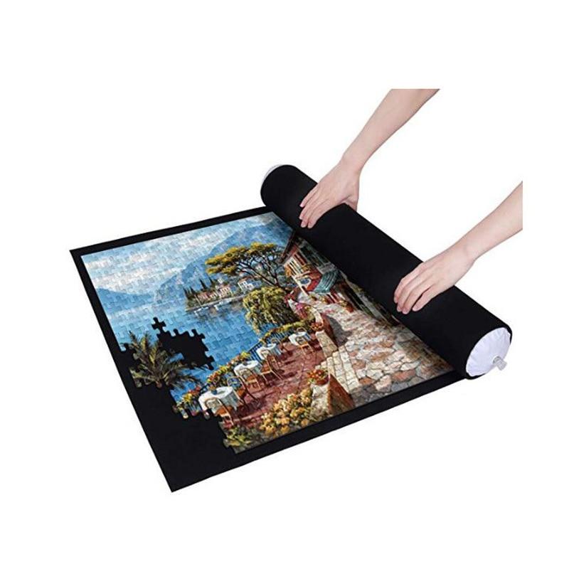 Esteira de feltro para quebra-cabeças, 26x46 polegadas, para armazenamento de quebra-cabeças de até 1500 peças rolle apito fosco
