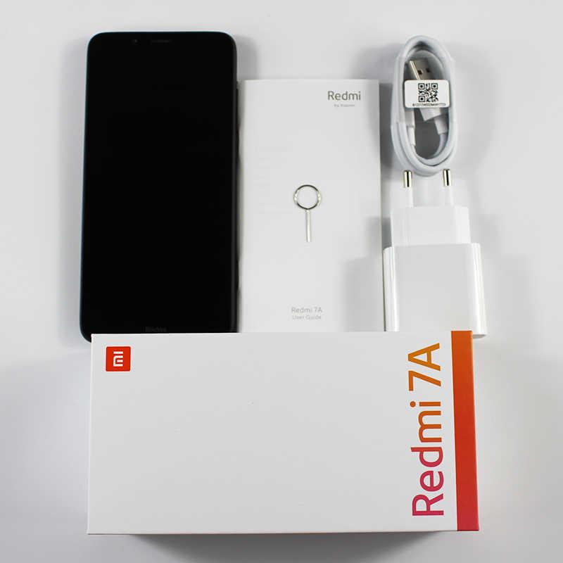 هاتف ذكي نسخة عالمية من شاومي ريدمي 7A بذاكرة وصول عشوائي 2 جيجا بايت وذاكرة داخلية 16 جيجا بايت وشاشة 5.45 بوصة سنابدارغون 439 ثماني النواة وبطارية 4000mAh وكاميرا بدقة 12 ميغا بيكسل