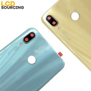 """Image 5 - Original 6.3"""" Battery Cover For Huawei Nova 3 Back Glass Battery Housing Cover + Camera Lens For Nova 3 Back Cover Case Replace"""