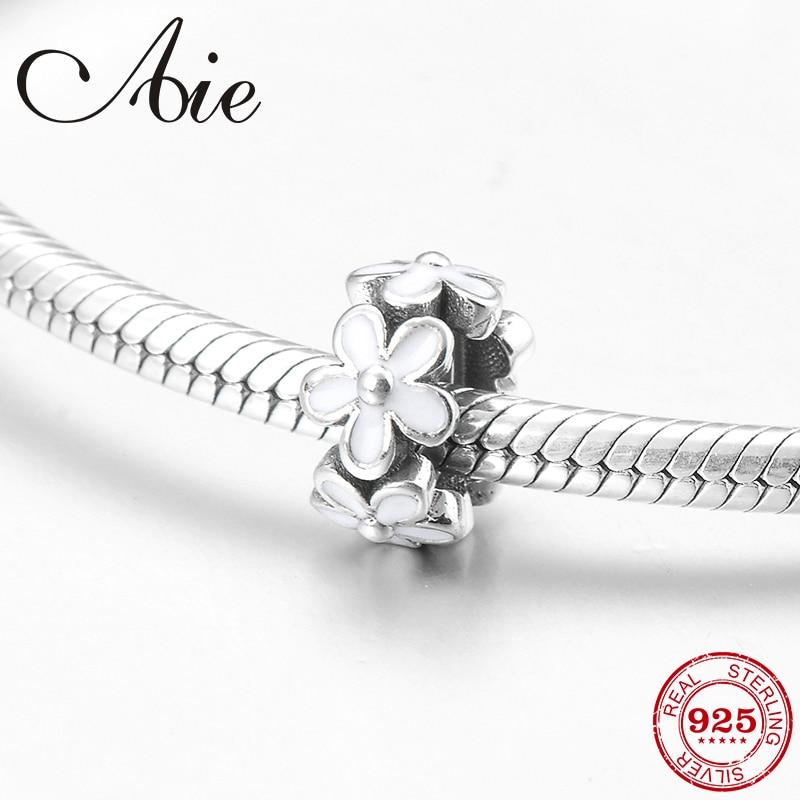 2019 Round Shape White Enamel Gift Fine Spacer Beads Fit Original Pandora Charm Bracelet Jewelry Making