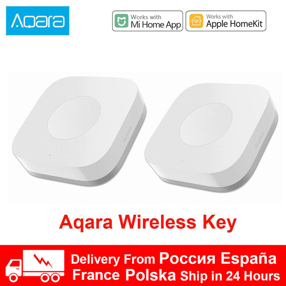 Xiaomi Aqara Sensor Smart Wireless Mini Switch Key Zigbee Connection Remote One Key Control Button Home Security Mihome Homekit