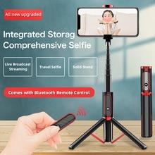 UJU Selfie Stick ขาตั้งกล้องแบบพกพา 1 ชิ้น Universal Multifunction MINI Bluetooth รีโมทคอนโทรลเดสก์ท็อป Live Boardcast ขาตั้ง