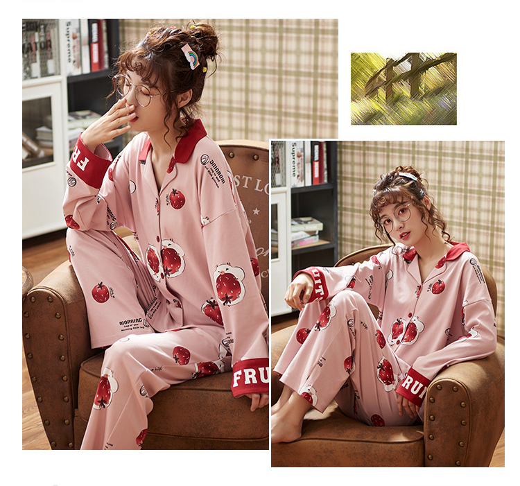 H98ea590ec12249a79e310b46879ee6d5R - BZEL Hot Sale Autumn Winter Sleepwear Cotton Ladies Pajamas Set Long Sleeves+Pans Underwear Lovely Nightwear Pijama Pyjama M-4XL