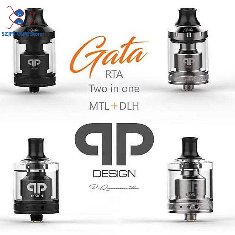 Presale QP Design Gata RTA MTL DL RTA 24mm 2ml Capacity Top Filling Single Coil RTA Double Ring Drip For MTL And DL VS Zeus X
