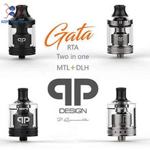 Presale QP Design Gata RTA MTL DL RTA 24mm 2ml Capacity Top Filling Single Coil RTA Double ring drip for MTL and DL VS Zeus X original gemz lucky star 2 rta tank 4ml 2ml atomizer 24mm adjustable bottom airflow control gemz lucky star 2 rta vs zeus rta