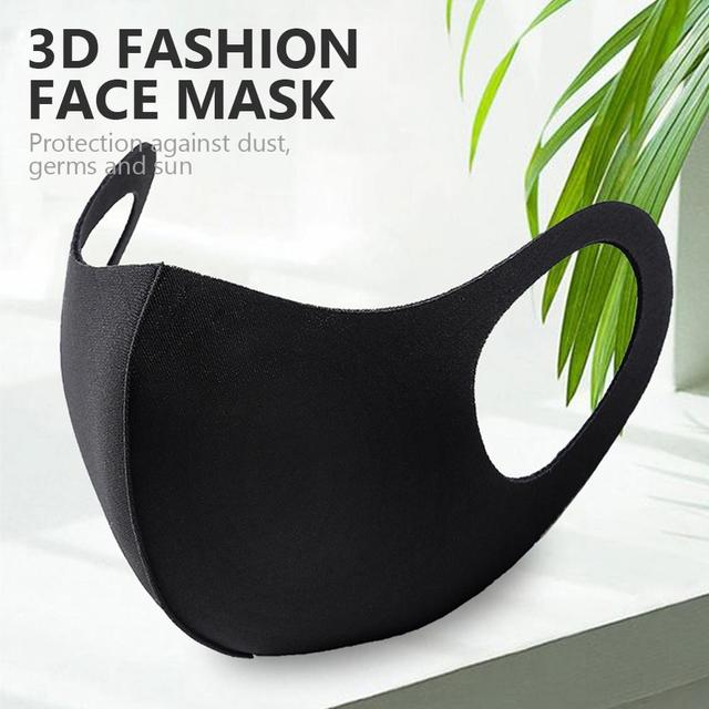 1 Piece 2020 New Gray Black Pink Mask Dustproof Mouth Face Mask Reusable Washable Kpop Adult Cotton Face Mouth Cover Mascarilla