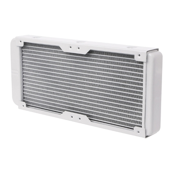 240mm Aluminum Computer Radiator Water Cooler 18 Tube CPU Heat Sink Exchanger cpu heatsink aluminum computer radiator water cooling cooler 240mm 2 fans drop shipping