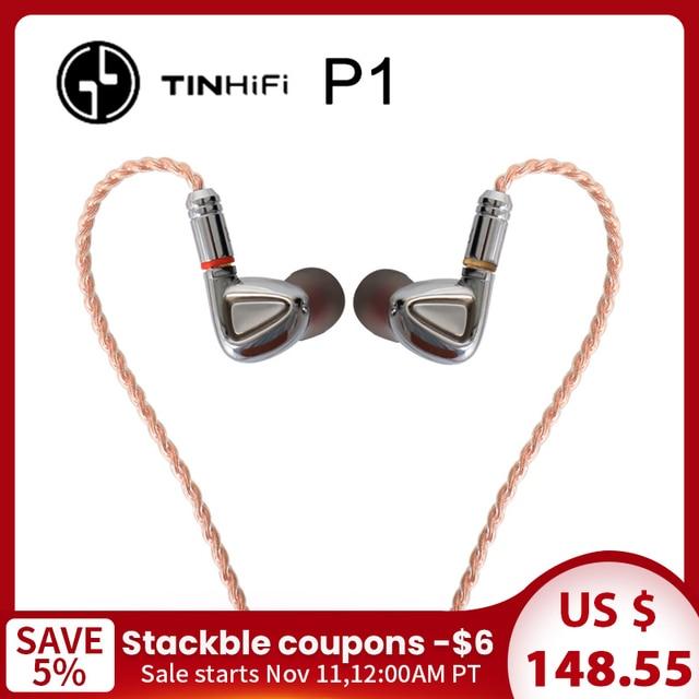 TINHiFi P1 Hifi Earphone No Mic TIN audio P1 With MMCX Cable Earphone