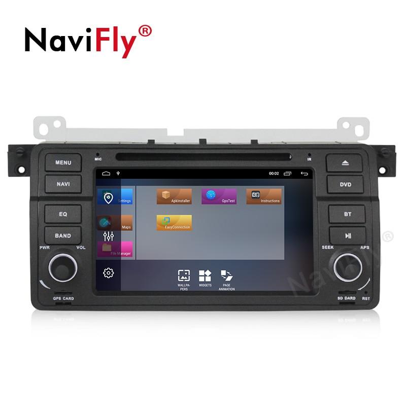 NaviFly Android 9.1 autoradio dvd gps pour BMW série 3 E46 M3 1998 2005 système stéréo unité de tête WIFI BT 2 + 32G lecteur multimédia - 3