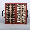 Китайская армия Цин 32 шт. Шахматный набор кожа Дерево Дракон коробка традиционная игра
