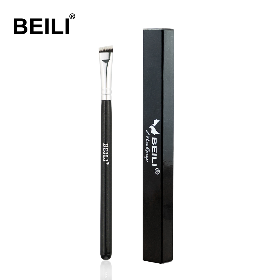 BEILI Black pink Brow brushes Professional Synthetic Hair thin Eye brow liner Brow concealer Makeup Tool Single Makeup Brushes-in Eye Shadow Applicator from Beauty & Health