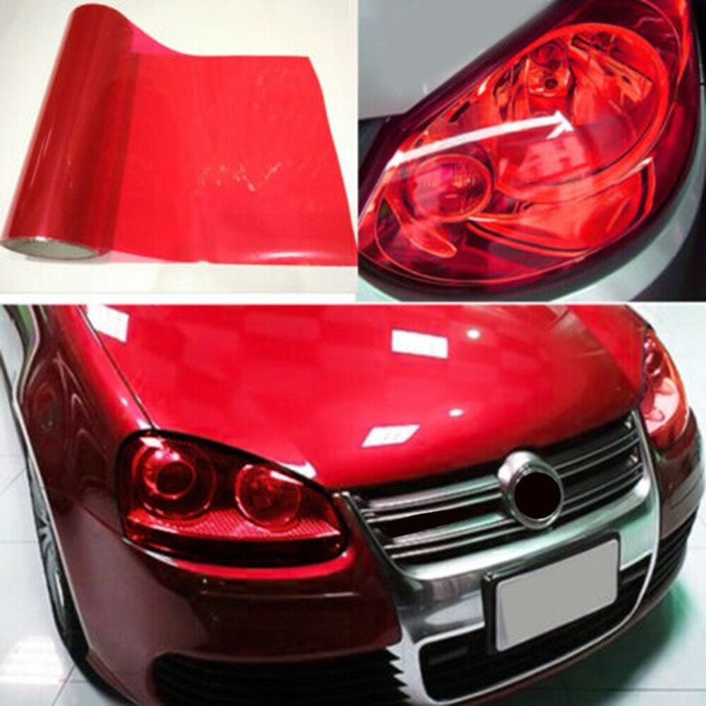 Protetor luz de nevoeiro adesivo matiz 30*120cm removível 1 rolo farol do carro