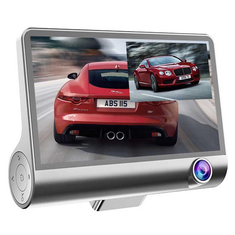 Автомобильный видеорегистратор 3 камеры s объектив 4,0 дюймов Dash камера 1080P двойной объектив с камерой заднего вида видеорегистратор авто регистратор цифровые видеорегистраторы s
