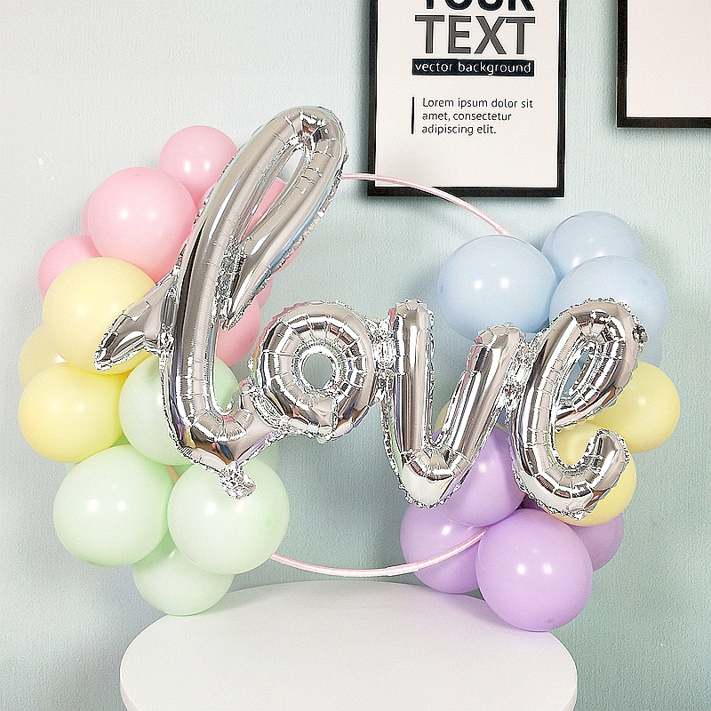 Large Aluminum Film Balloon Conjoined Letters LOVE Proposal Marriage Wedding Room Atmosphere Decoration Multi Color
