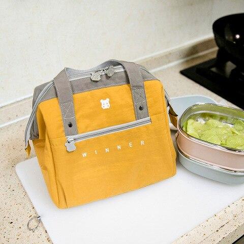 Viagem Isolado Almoço Bolsas Thermo Ombro Refrigerador Fresco Mantendo Bento Bolsa Piquenique Engrossar Recipiente Zip Tote Acessórios