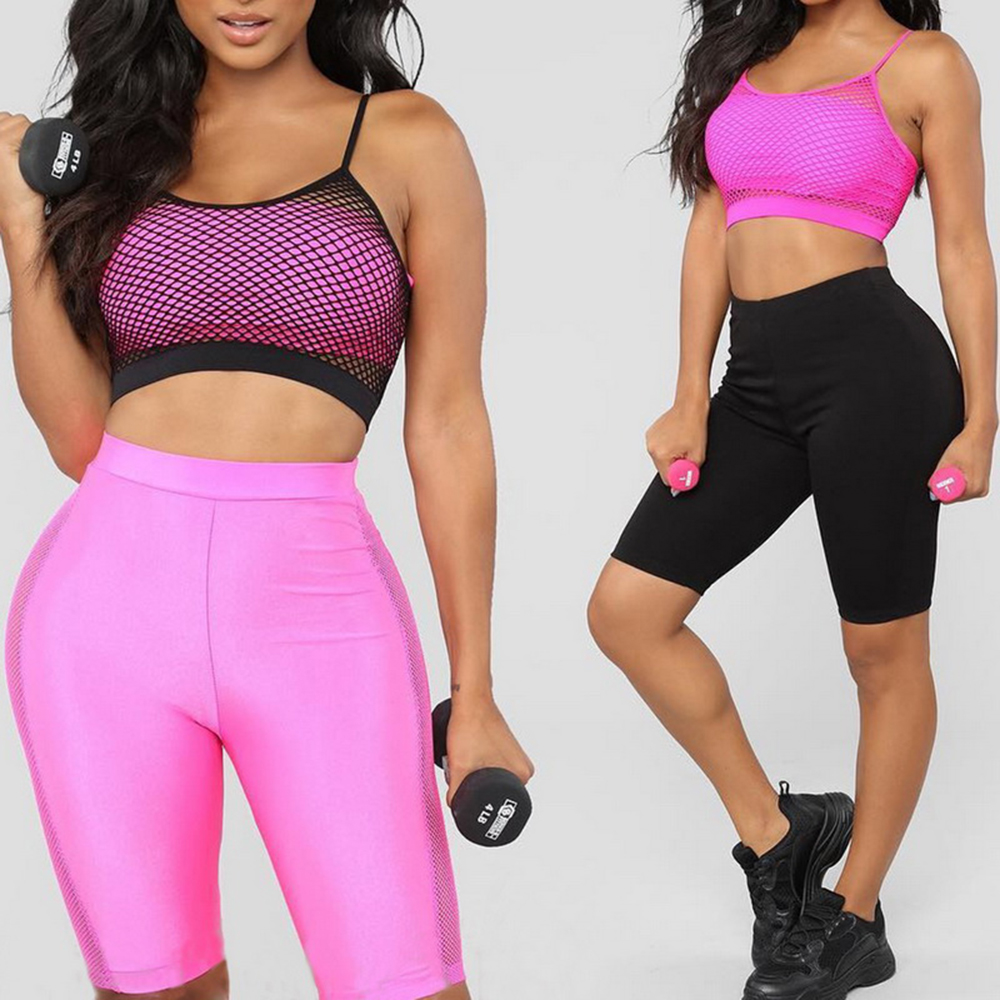 JODIMITTY Fashion Women Cycling Shorts Dancing Gym Biker Slim Active Sports Solid Color Sexy Skinny Shorts  Summer Gym Clothing