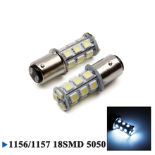 5050 1156 BA15S 18SMD White LED Bulb Lamp P21w R5W R10W 1157 Led Bulbs Turn Signal Reverse Lights Car Light Tail Parking 12V