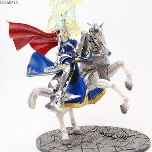 Image 3 - Figura de acción de Anime de 45cm, figura de Altria, Pendragon, FGO, sable, Lancer, Gunman a caballo, figura decorativa de PVC
