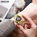 Relogio Feminino 2020 NIBOSI новые золотые женские часы  Бизнес Кварцевые часы  дамские Роскошные Брендовые женские наручные часы  часы для девушек