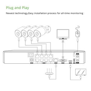 Image 5 - 4ch 4K POE kiti sistemi CCTV güvenlik Sony IMAX415 H.265 8ch NVR açık su geçirmez ses IP kamera gözetim alarmı video p2p