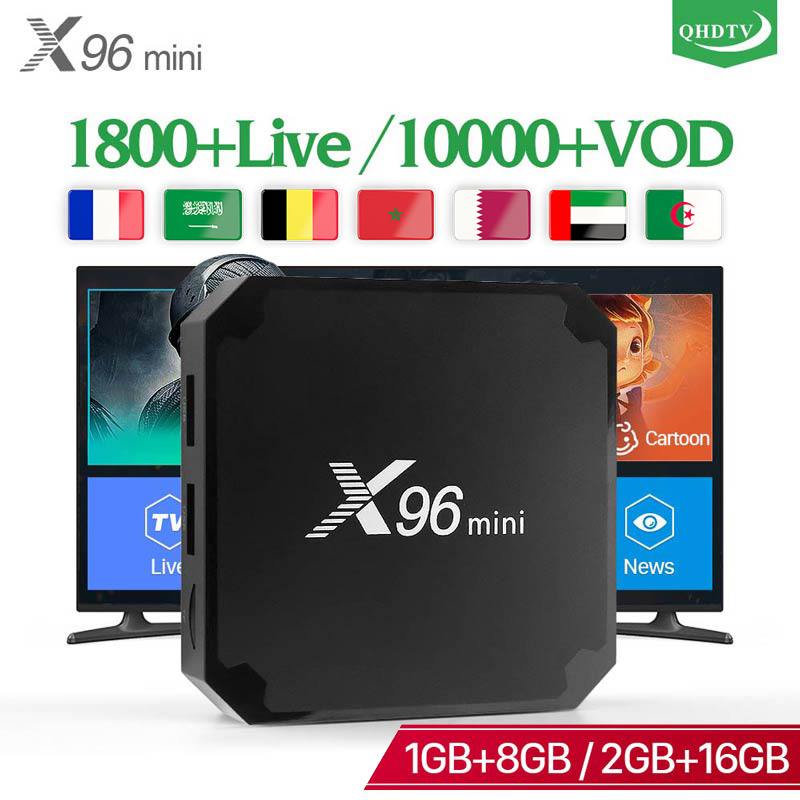 QHDTV X96 MINI IPTV Arabisch Frankreich Android 7.1 Französisch abonnement IPTV Belgien Dutch Arabisch Französisch IPTV Niederlande X96 mini box
