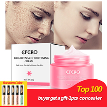 EFERO Freckle Cream Fade Dark Spot Face Skin Whitening Cream Lightening Serum for Reduces Age Spots