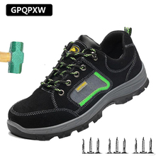 Summer Labor Insurance Shoes Anti-smashing Anti-piercing Safety Male Lightweight Deodorant Breathable Non-slip Work Boots