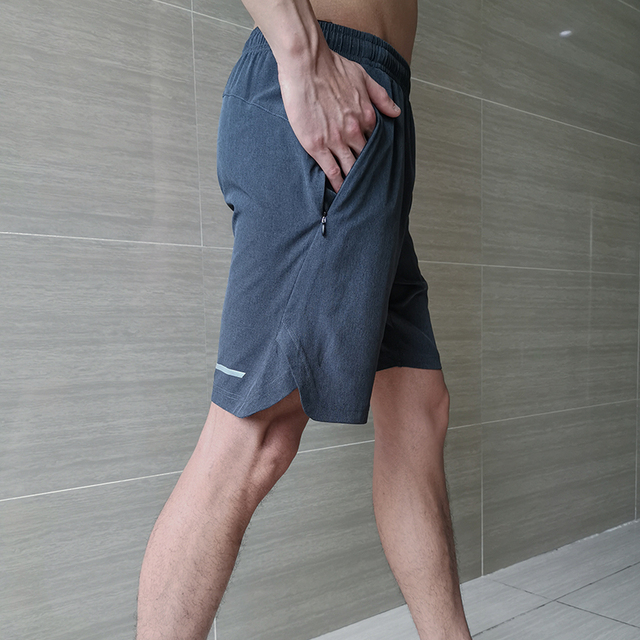 Pantalones cortos deportivos FANNAI para hombre, CrossFit y para correr, deportes, Jogging, entrenamiento, gimnasio, pantalones cortos de secado rápido con cremallera y bolsillos con cordón