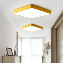 Ultra-thin rectangular LED ceiling lights lighting modern lamp attic living room bedroom lamps kitchen light