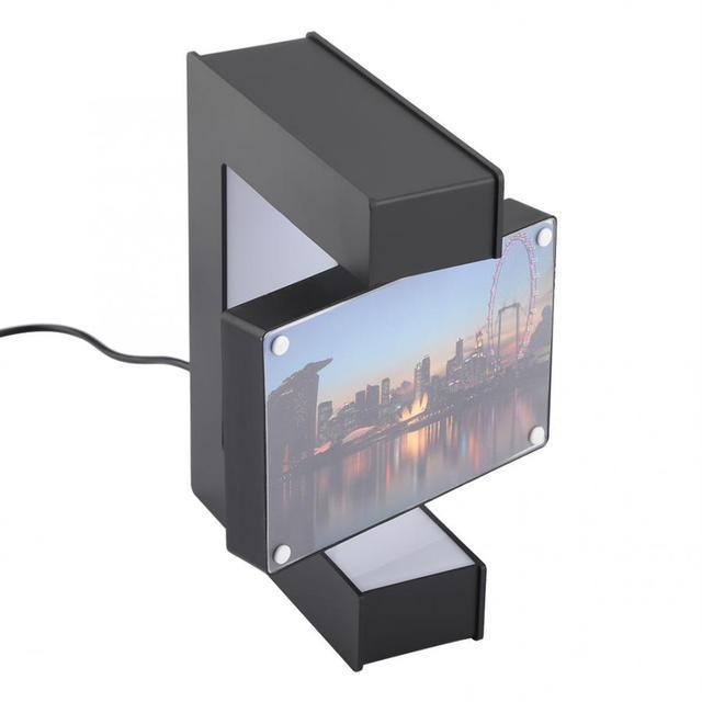 Electronic LED Magnetic Levitation Photo Frame Floating Photo Frame Novelty Gift Photo Frame Home Office Decor Wedding Gift 5