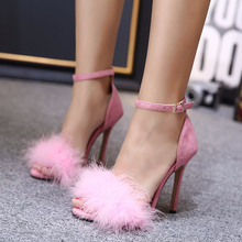 Large size Women Sandals Gladiator High Heels Strap Pumps Buckle Shoes Fashion Summer Ladies Black 35-43 US-22