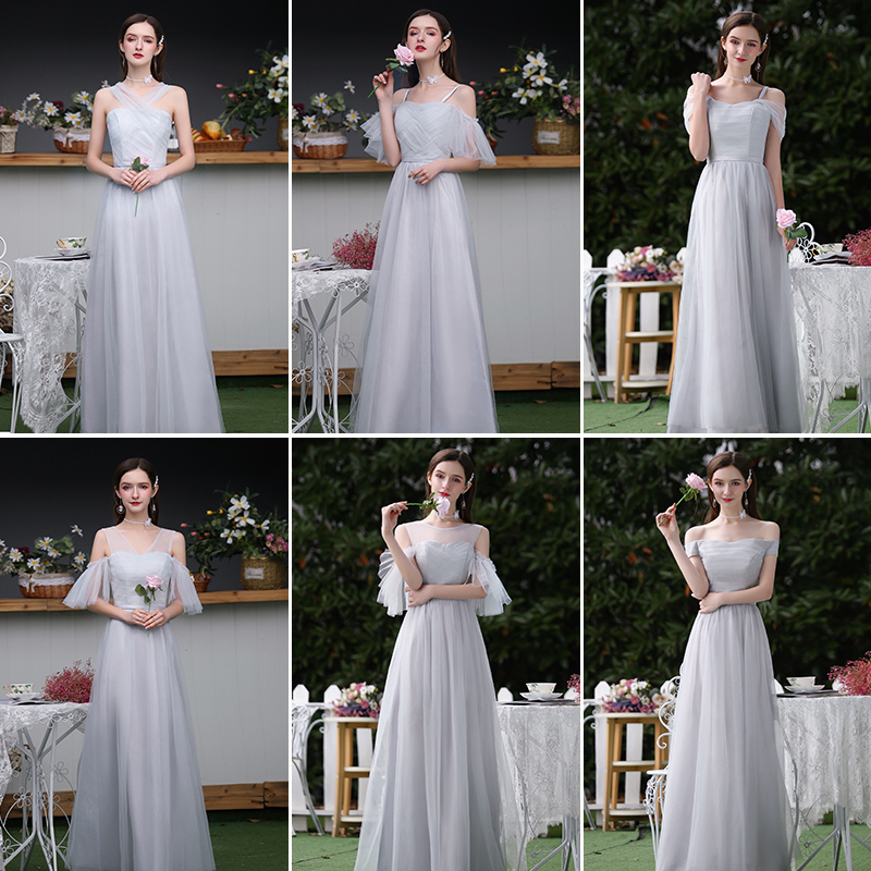Plus Size Tulle Long Bridesmaid Dresses Simple A-Line Sleeveless Elegant Dress Women For Wedding Party Sexy Prom Dress Vestido