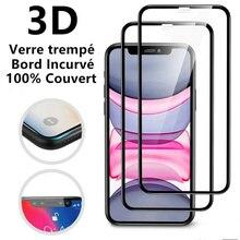 Verre Tremp For iPhone xs max XR 6 7 8 11 12 Pro Vitre Protection Ecran Intgral 3D