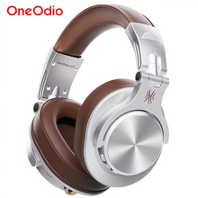 Oneodio Fusion 유선 + 무선 블루투스 헤드폰 (마이크 용) 이어폰 스튜디오 DJ 헤드폰 전문 녹음 헤드셋