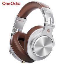 цена на Oneodio Fusion Wired + Wireless Bluetooth Headphones For Phone Mic Over Ear Studio DJ Headphone Professional Recording Headset