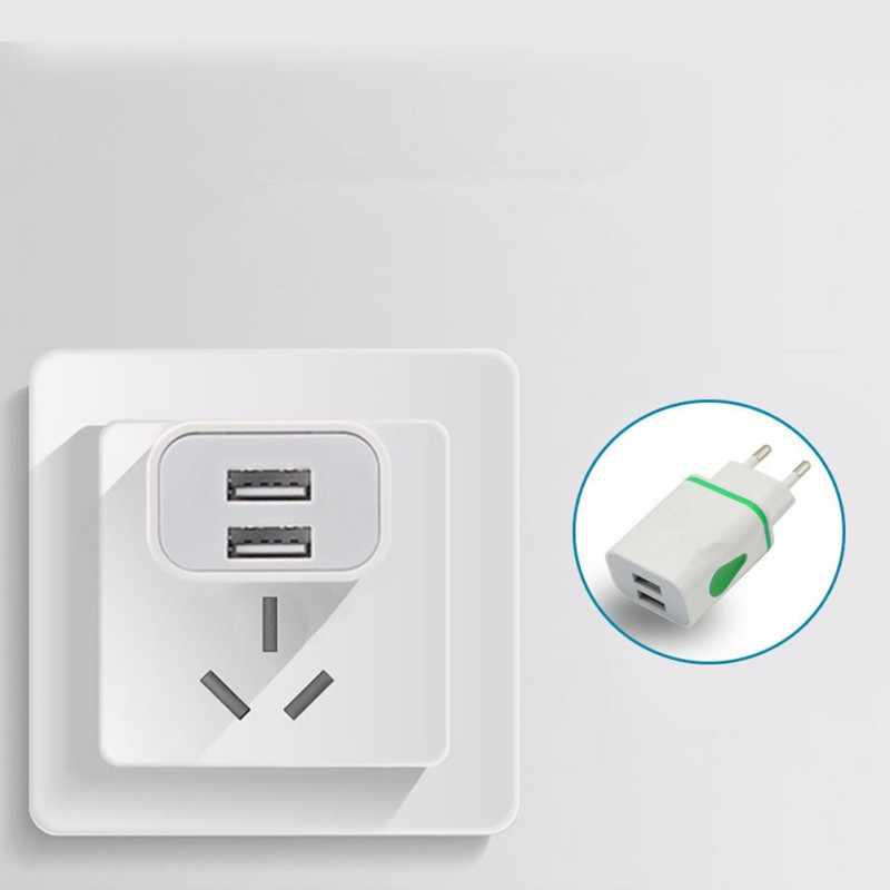 Edal Dual USB Warna-warni Air-Drop Berbentuk Charger 2A Ponsel Universal Pengisian Plug