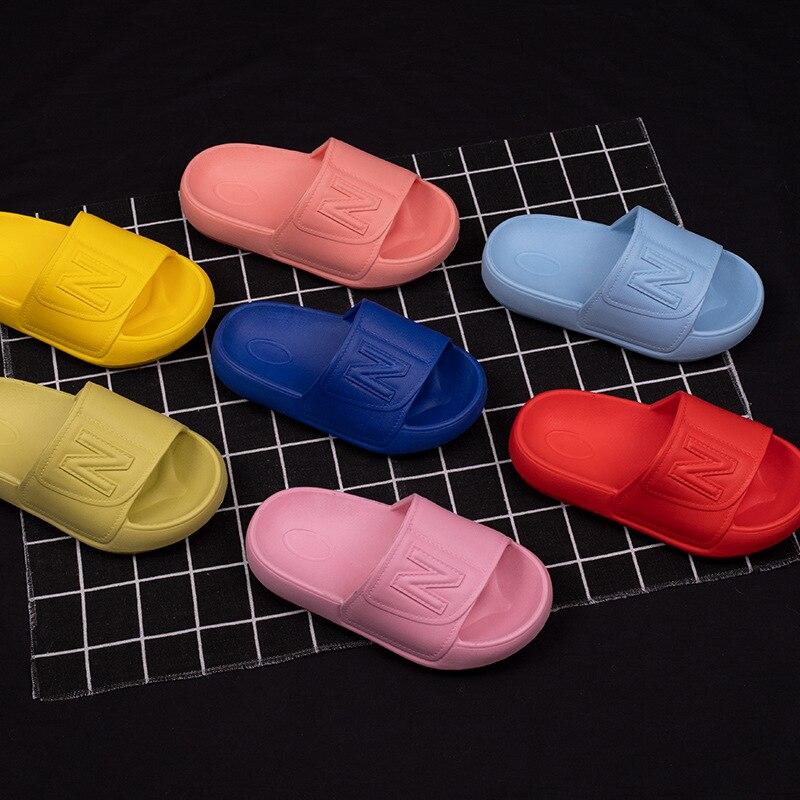 Children Slippers For Boys Soft Bottom Household Fashion Flip-flops Baby Girls Indoor Shoe Bathroom Kids Slippers EVA Summer