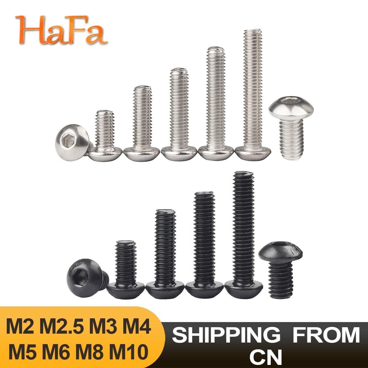 5-50 шт. винты с шестигранной головкой ISO7380 304 нержавеющая сталь/черный 10,9 класс M2 M2.5 M3 M4 M5 M6 M8 M10