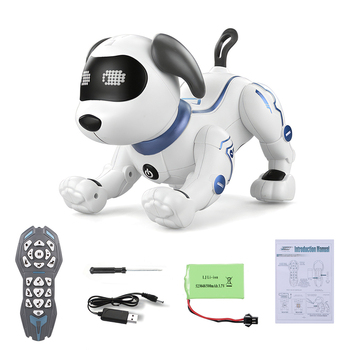 LE NENG TOYS K16A Electronic Animal Pets RC Robot Dog Voice Remote Control Toys Music Song Toy for Kids RC Toys Birthday Gift 3