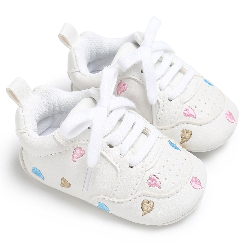 Casual Baby Shoes Infant Baby Girl Crib Shoes Cute Soft Sole Prewalker Sneakers Walking Shoes Toddler First Walker 1