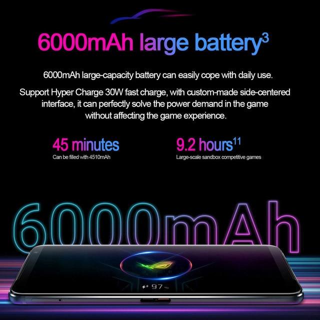 "New Global Rom Asus ROG 3 5G Gaming Phone 6.59"" Snapdragon865/865 Plus 6000mAh 144HZ FHD+ AMOLED NFC ROG Phone 3 ROG3 Smartphone 3"