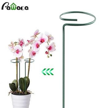 Metalowy kwiat paliki podpórka roślin kwiaty wsparcie pierścień Bonsai wsparcie roślina doniczkowa stawki dla domu podwórko ogród tanie i dobre opinie