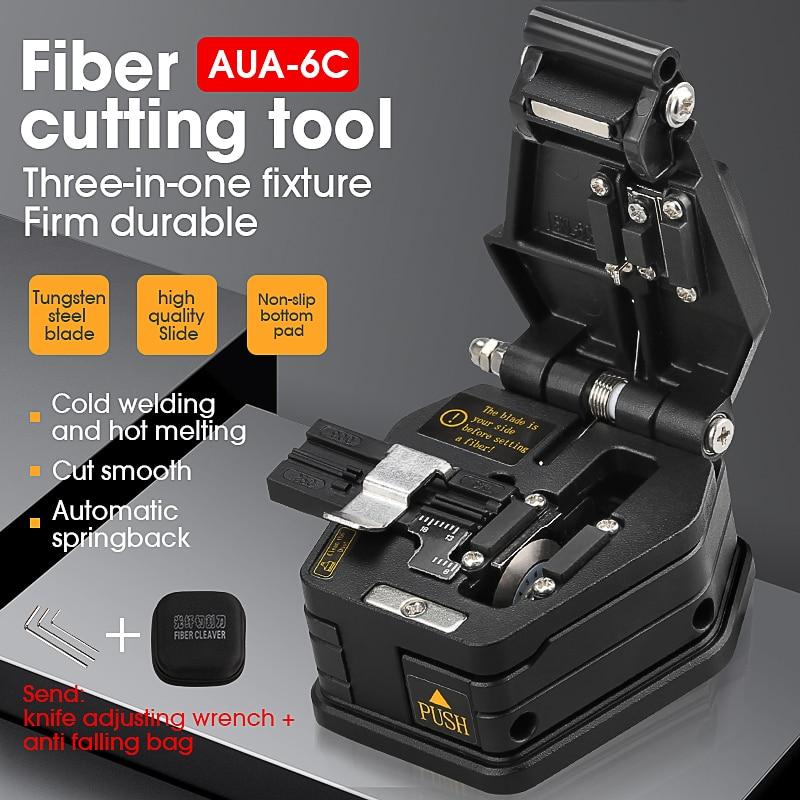 Fiber cleaver AUA-6C Cable Cutting Knife FTTT Fiber Optic Knife Tools cutter High Precision Cleavers 16 surface blade