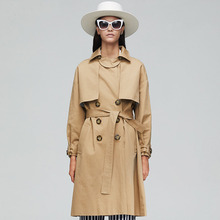England Style Long Trench coat women Fashion Classic Double Breasted Belt High quality Trench coat Casual Business Outerwear new arrival autumn trench coat women loose clothing outerwear high quality double breasted women hooded long coat