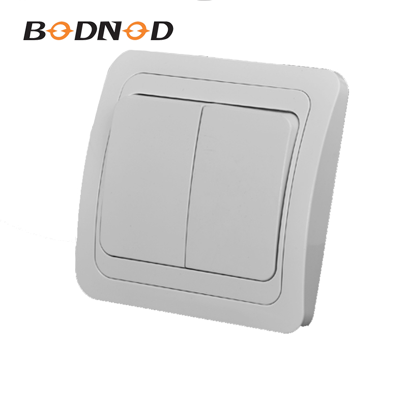 Light Switch Two Gang Switch White Color European Inset Wall Switch DIY 10A 250V Legrand Schneider Livolo(China)