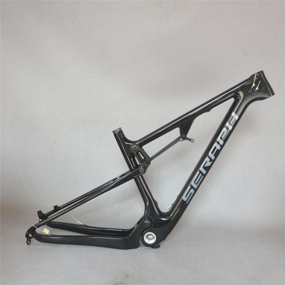 2020 Newest Seraph Custom Paint Glossy 29erX2.3 Tire  Disc Brake BSA Carbon Fiber T700 Mountain Bike Frame FM037