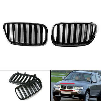 For BMW E83 2007 2008 2009 2010 Decoration Car accessries Car Grill Facelift Gloss Black Front Center Kidney Grille