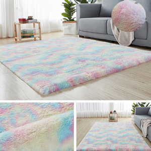 Rainbow Colors Carpets for Living Room Rug Bedroom Decor Carpet Floor Area Rugs Home Fluffy Thicken Mat Long Soft Velvet Mats