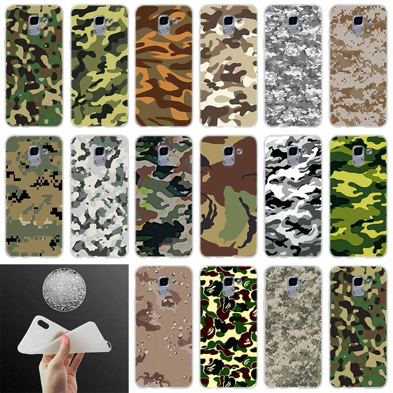 Phone <font><b>case</b></font> Cover Camouflage Pattern Camo military Army FOR <font><b>Samsung</b></font> Galaxy J6 J4 J8 <font><b>J7</b></font> 2018 Plus J3 J5 <font><b>J7</b></font> Prime Pro <font><b>2017</b></font> 2016 image